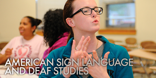 American Sign Language and Deaf Studies Certificate